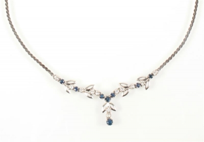 Saphir Brillant Collier - Schmuck