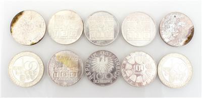 10 Münzen ATS 100,-- - Coins for collectors