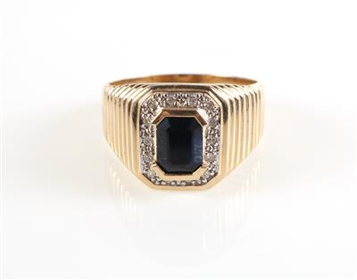 Saphir Diamant Ring - Jewellery and watches