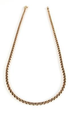 Massive Erbsmuster Halskette