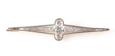Brillant/Diamant Brosche zus. ca. 0,70 ct