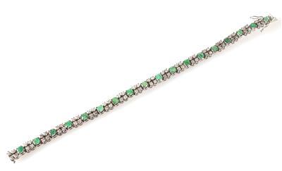 Smaragd Brillant/Diamant Armband