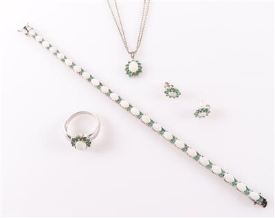 Opal Smaragd Damenschmuckgarnitur (6)