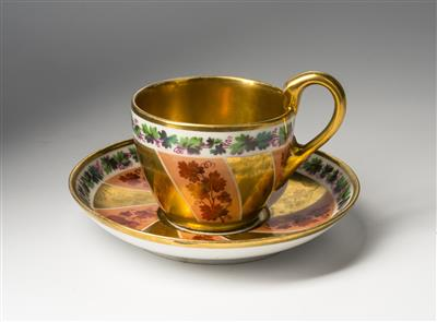 Biedermeier Cup with Saucer - Art and Antiques 2017/11/25