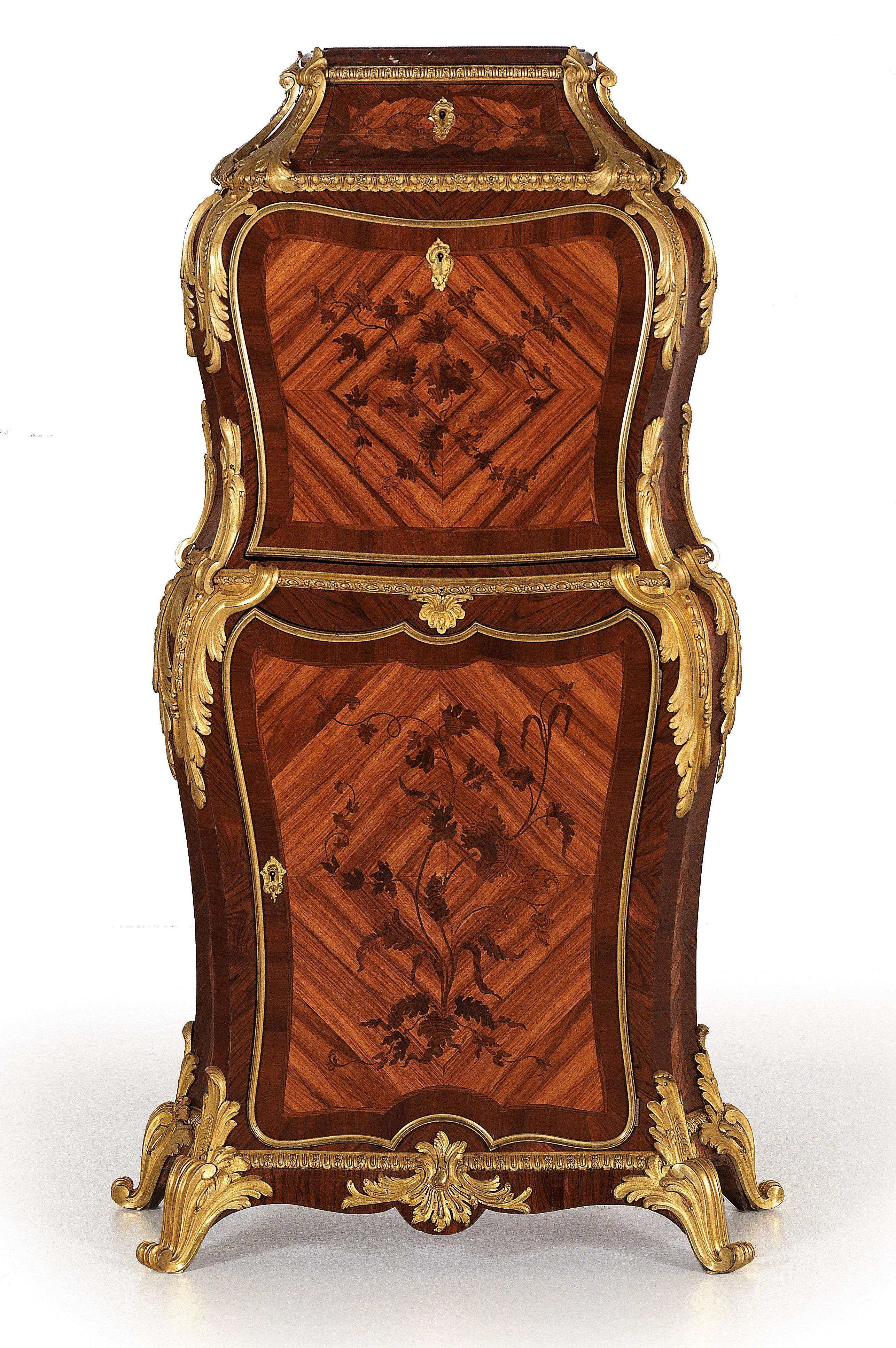 Outstanding and extremely rare English lady's desk or