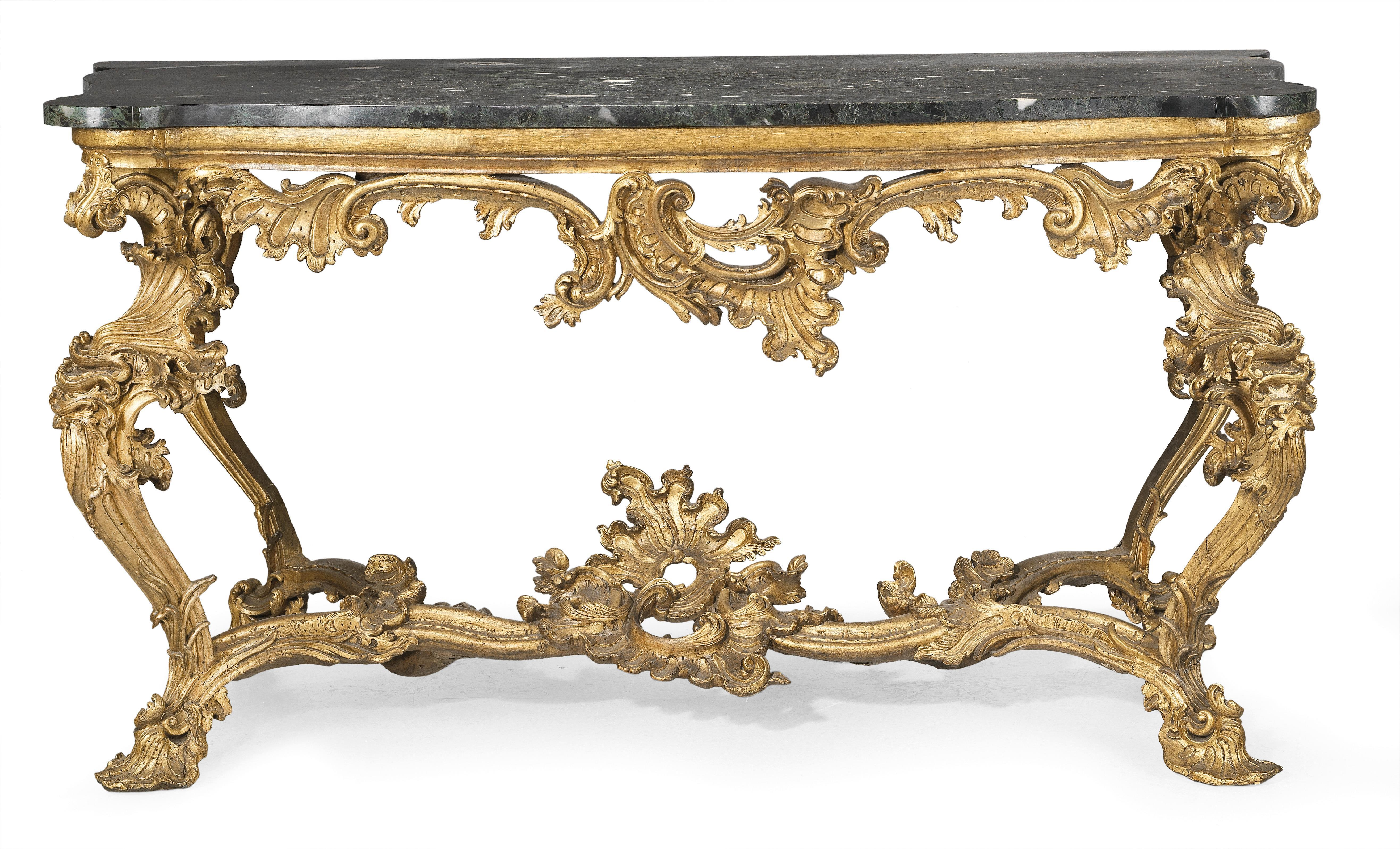 Large Italian Rococo Console Works