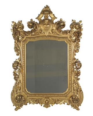 Large wall mirror, - Furniture and works of art