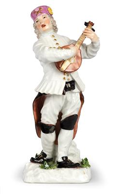 A Miner Playing the Lute and Singing, - Furniture, Porcelain, Sculpture and Works of Art