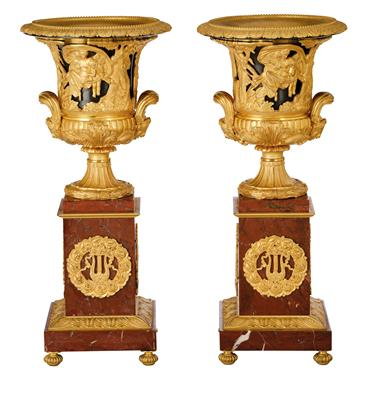 A Pair of Charles X Vases from Paris, - Starožitnosti
