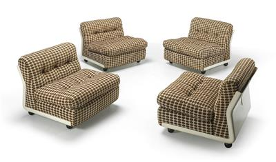 A Set of Four Seating Elements Mod. Amanta, - Starožitnosti