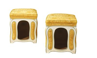 A Pair of Small Doghouses or Stools, - L'Art de Vivre