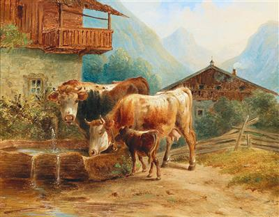 Joseph Heike attributed - 19th Century Paintings and Watercolours