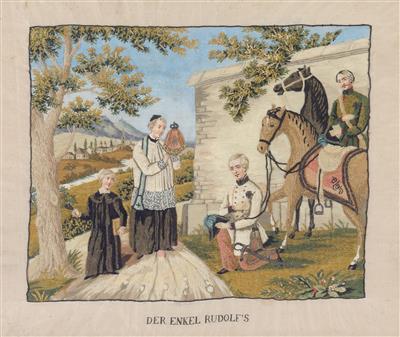 Kaiser Franz Joseph I. mit dem Priester,