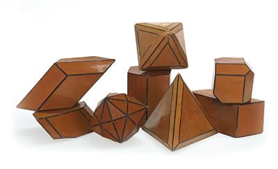 Eight cardboard crystal Models - Antique Scientific Instruments, Globes and Cameras