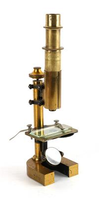 An early Carl Reichert (1851–1922) brass Microscope No. 2131, - Antique Scientific Instruments, Globes and Cameras