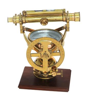 A Stanley improved mining dial with cranked gimbal ring - Antique Scientific Instruments, Globes and Cameras