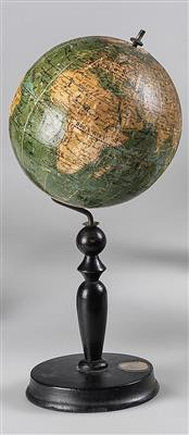 A terrestrial Globe by Johann Peter Salziger - Antique Scientific Instruments and Globes; Classic Cameras