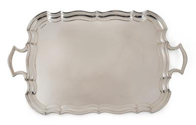 A Tray from Sheffield, - Silver and Russian Silver