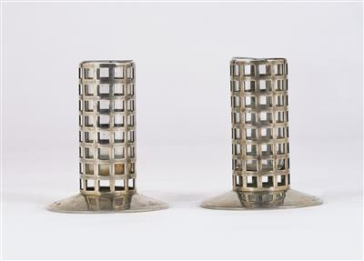 "Josef Hoffmann, a pair of small vases (or ""toothpick holders""), Wiener Werkstätte, c. 1904 - Jugendstil and 20th Century Arts and Crafts"