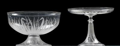 A Lobmeyr epergne and dish, - Glass and porcelain