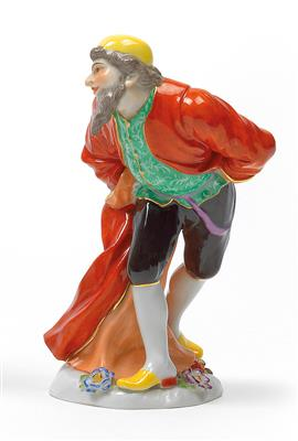 Extremement Pantalone of the commedia dell'arte, - Glass and porcelain 2015/06 RH-03