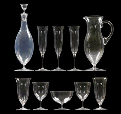 A Lobmeyr glass service, - Glass and porcelain