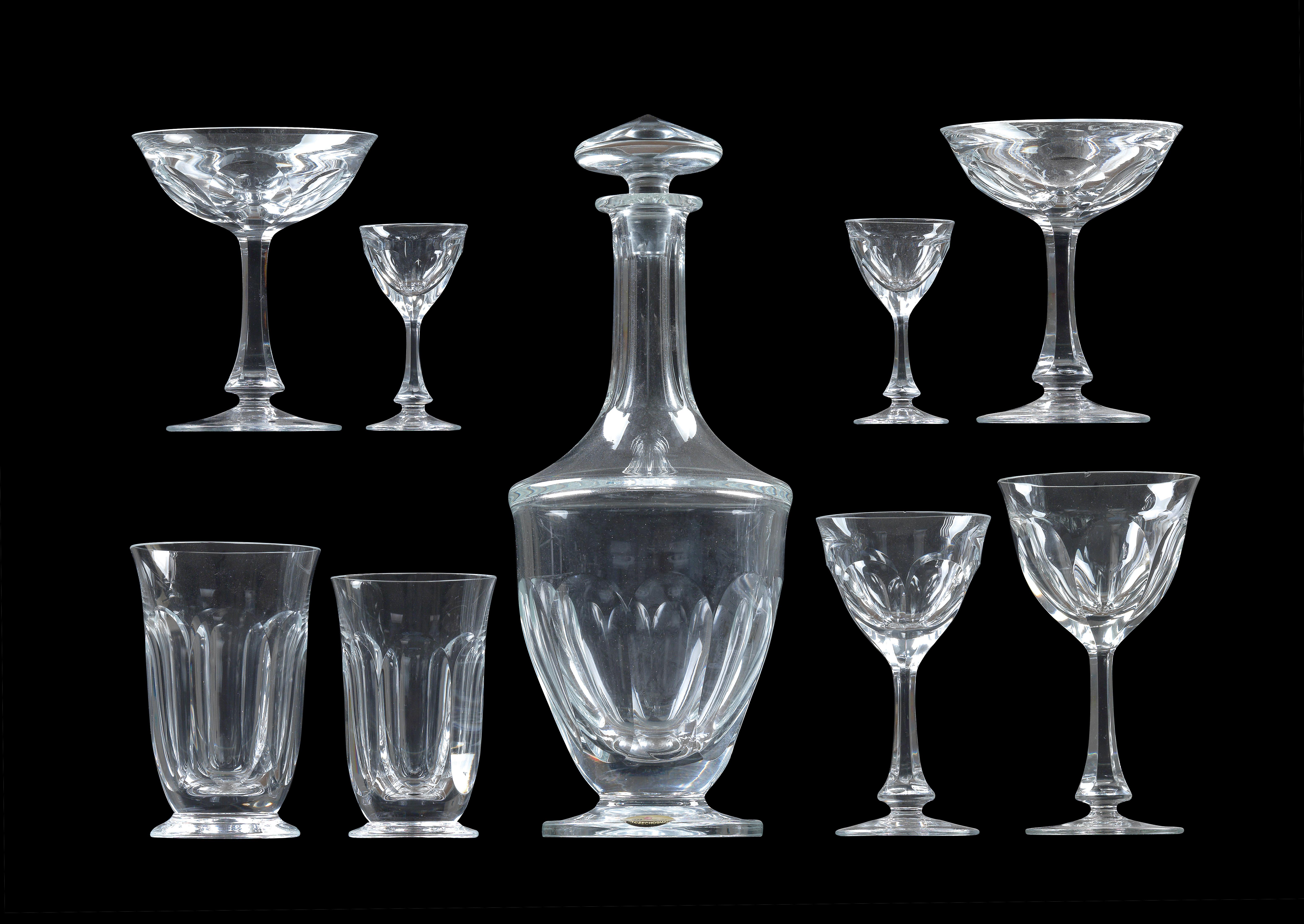 A set of Moser glasses, - Glass and porcelain 2017/12/13