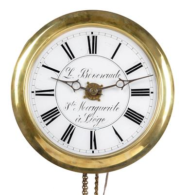 An Iron Wall Mounted Pendulum Clock