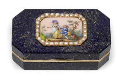 A box with lid, - Clocks, Vintage, Sculpture, Faience, Folk Art, Fan Collection