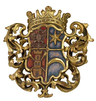 A Baroque coat-of-arms, - Antiquariato
