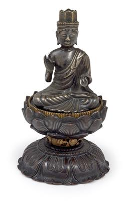 A bodhisattva on a double lotus base, Japan, 19th cent. - Antiquariato