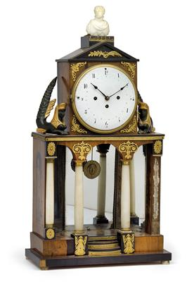 "An Empire ""Ägyptomanie"" commode clock - Antiques"