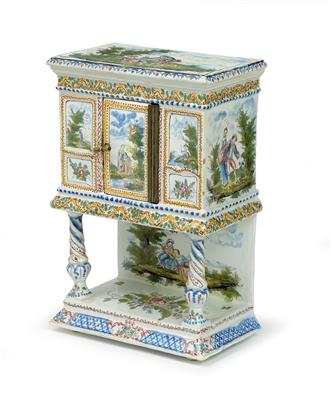 A miniature cabinet, France, late 19th cent. - Antiques