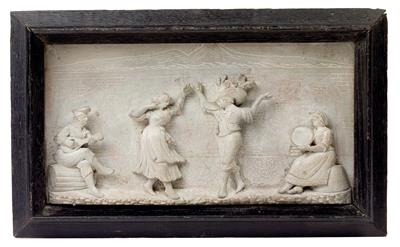 A relief in volcanic rock from Naples, - Antiquariato