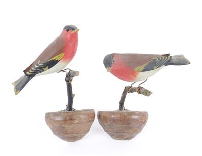 A pair of chaffinches, Viechtau, - Antiques