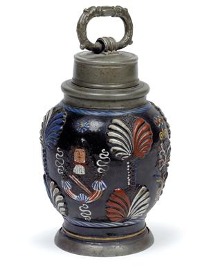 A screw-top bottle (Kruke), Dippoldiswalde (previously attributed to Annaberg) circa 1670/90 - Antiques