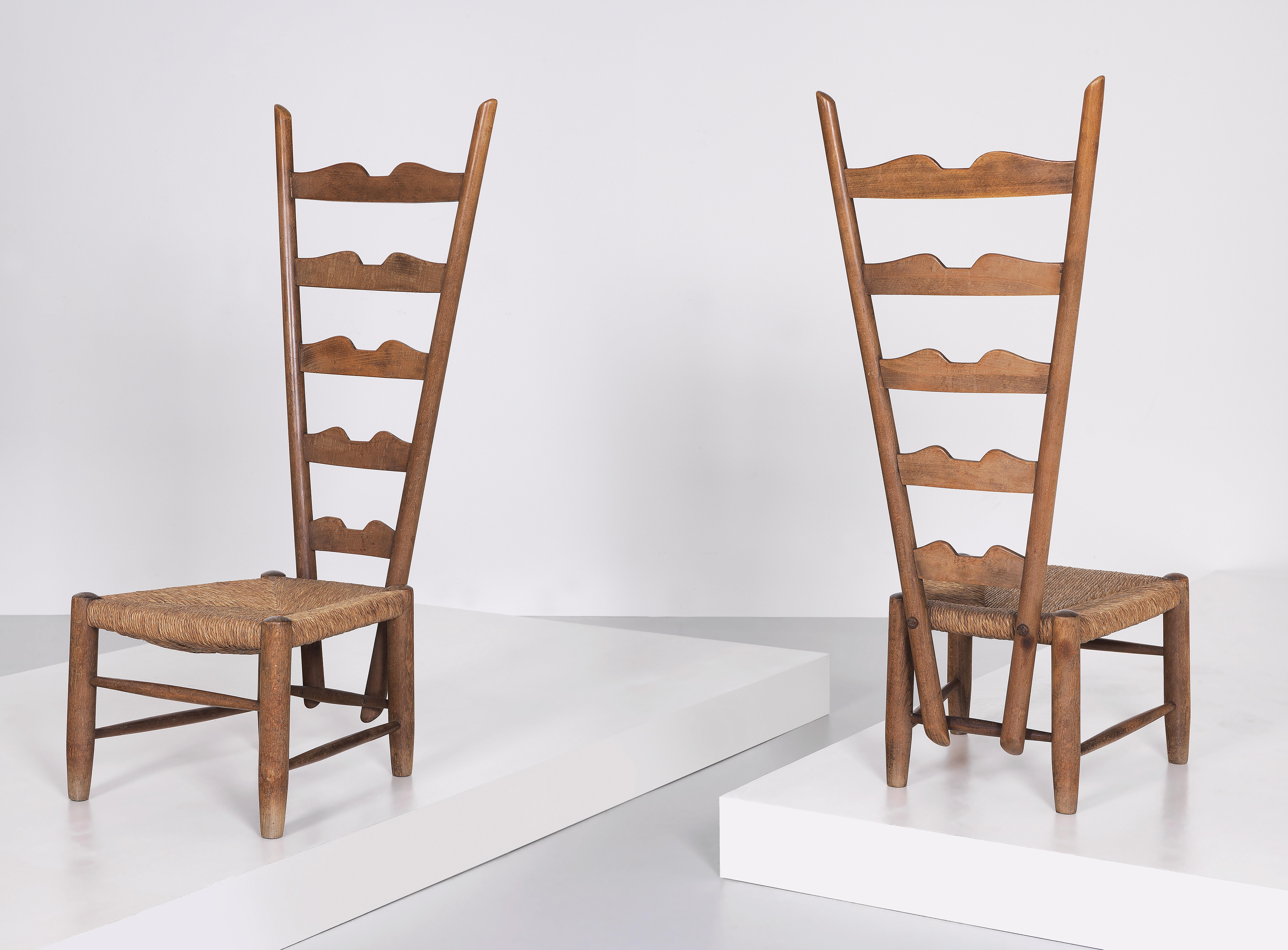 Two High Back Chairs Designed By Gio Ponti Design 2016 11 03 Realized Price Eur 10 625 Dorotheum