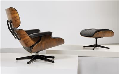 Lounge chair with ottoman, designed by Charles & Ray Eames, - Design