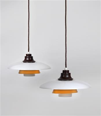 Two pendant lights PH 3/2, designed by Poul Henningsen, - Design
