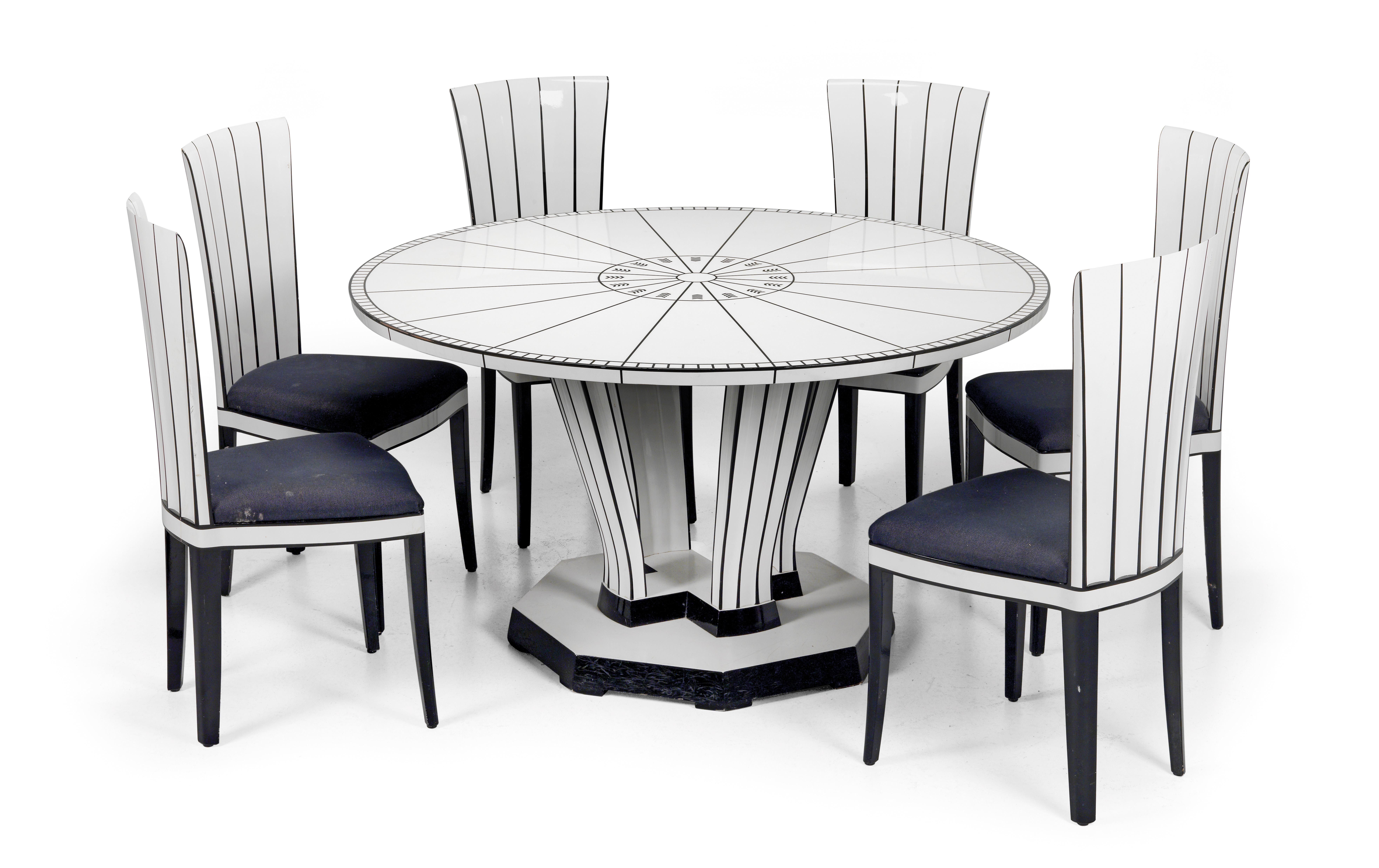 A Set Of Six Cranbrook House Side Chairs And A Table Designed By