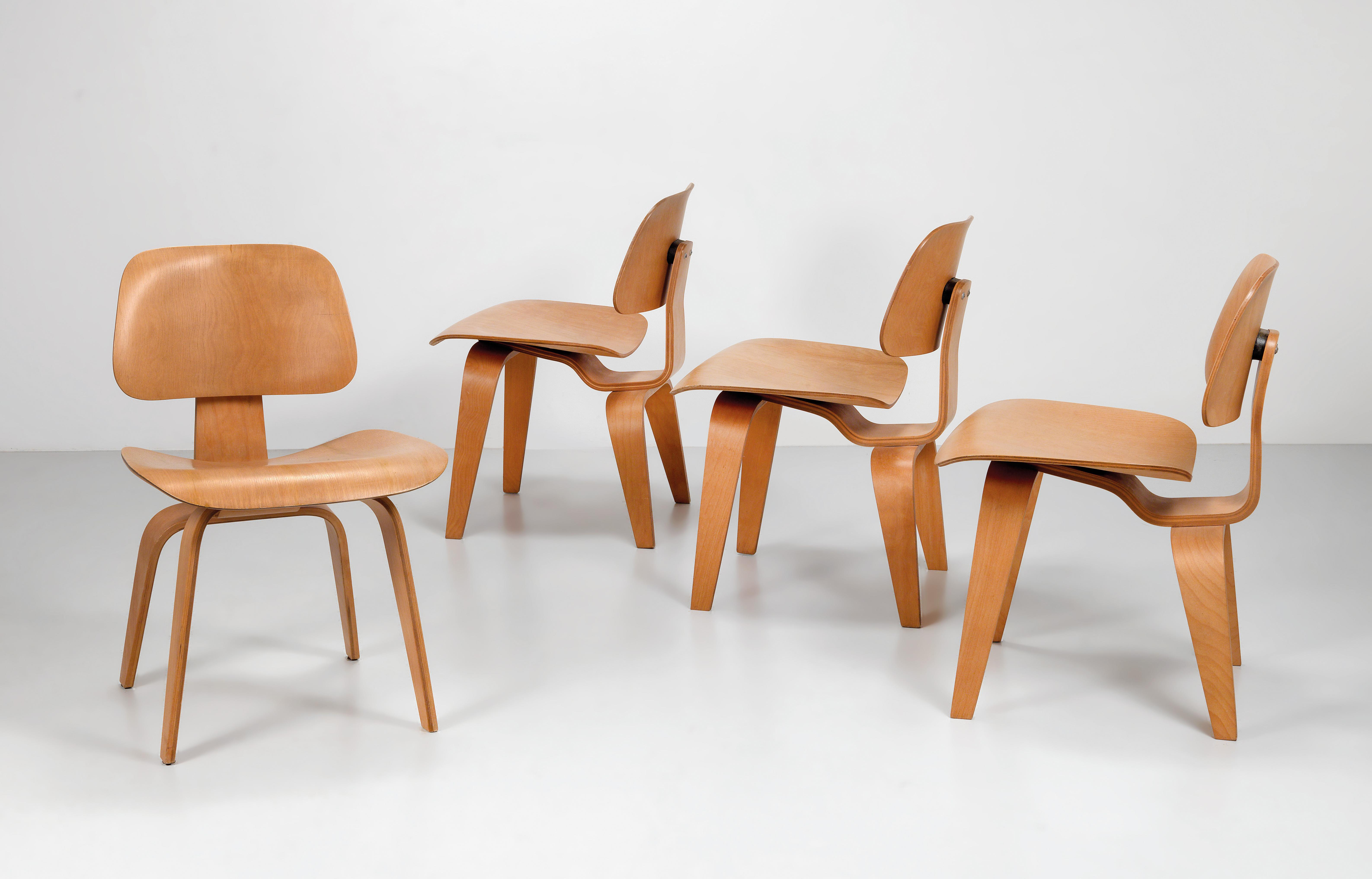 Surprising A Set Of Four Chairs From The Plywood Group Model Dcw Pdpeps Interior Chair Design Pdpepsorg