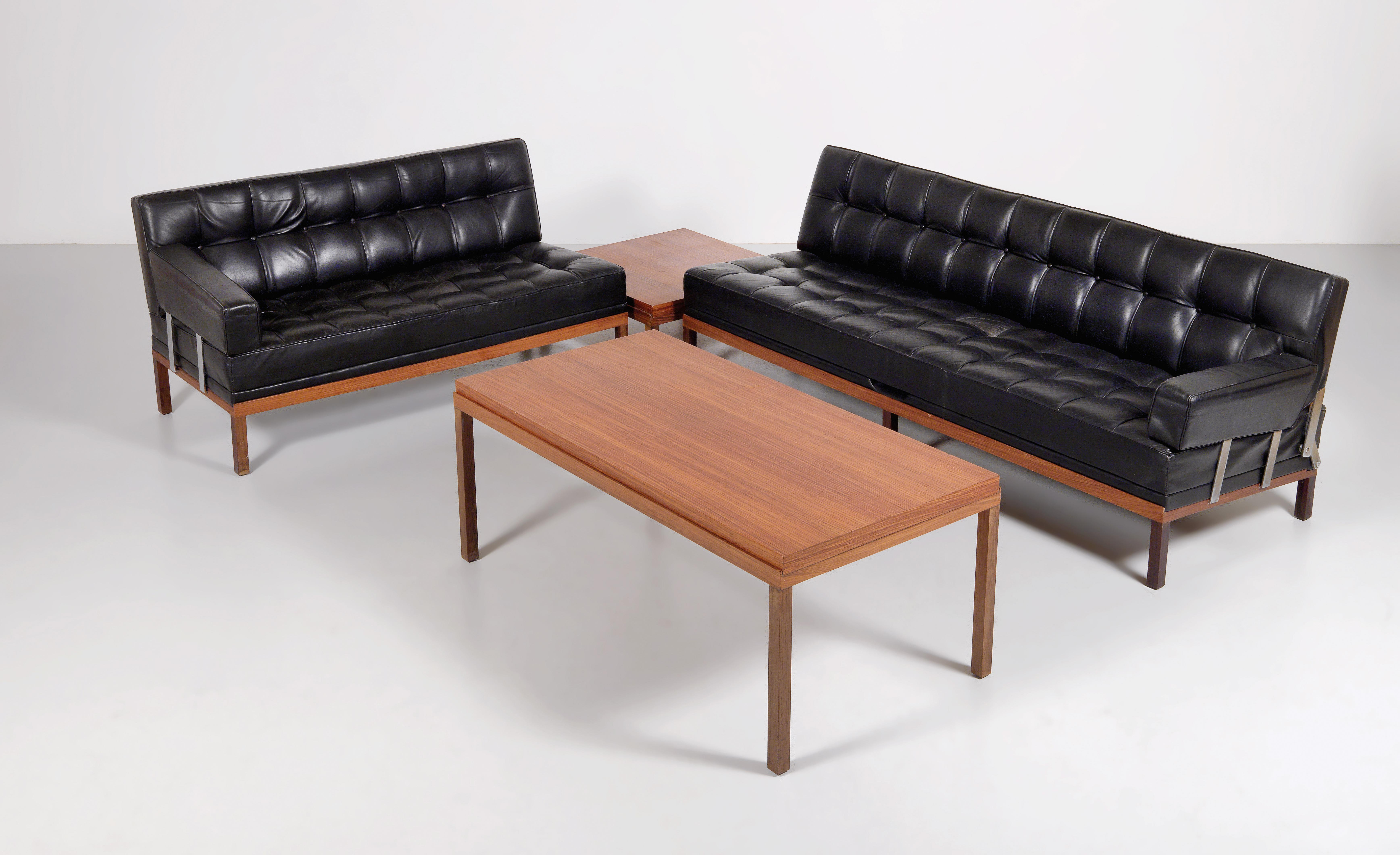 a suite of furniture from the constanze series designed by johannes spalt