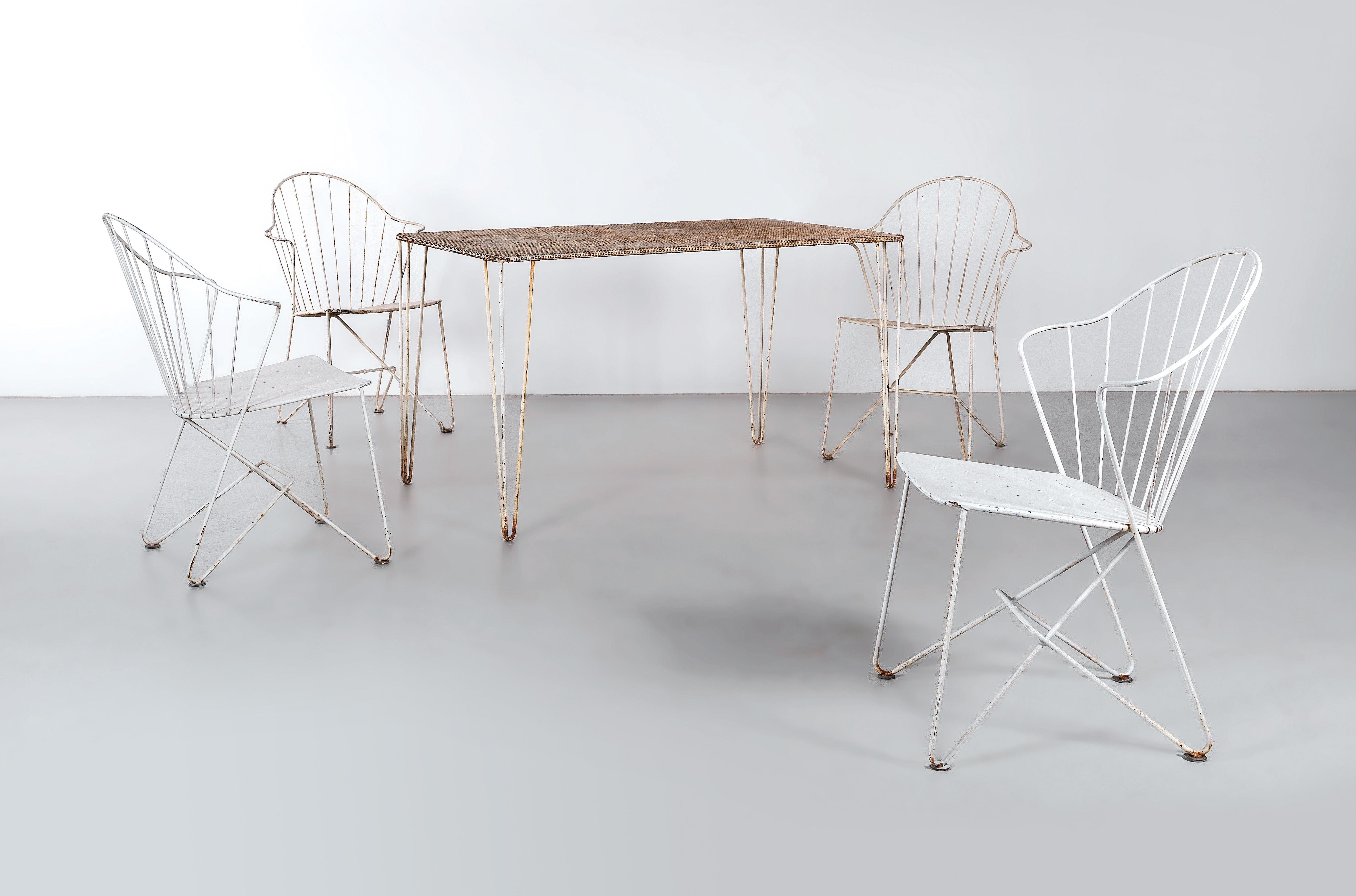 a suite of furniture from the sonett series designed by the architects j o