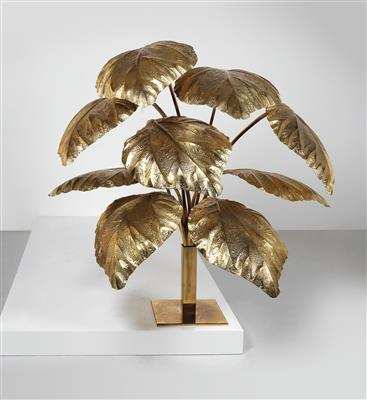 "A large ""Leaf"" floor lamp, designed by Tommaso Barbi Italy c. 1970, - Design"