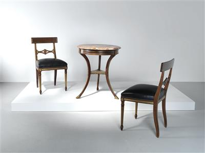 A Set Of Dining Furniture Two Chairs And A Table Neo Classical Style Second Half Of The 20th Century Design 2018 06 06 Estimate Eur 2 000 To Eur 3 000 Dorotheum