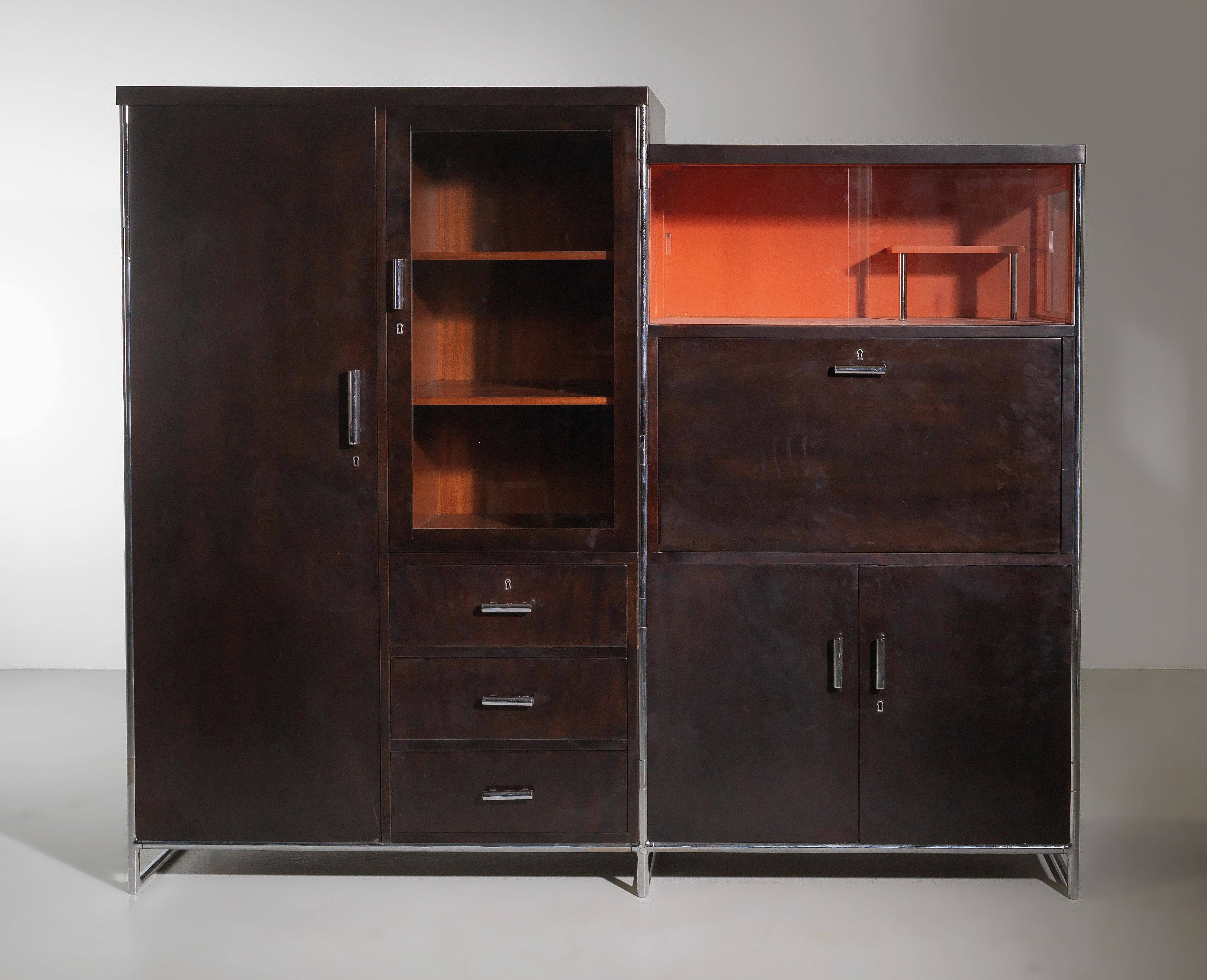 A Rare Tubular Steel Cabinet Model No B 111 Designed In 1935