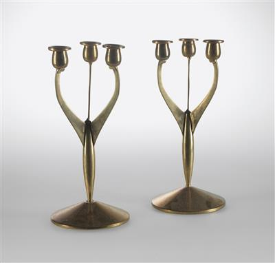 Two candelabra, designed by Paul Haustein c. 1904, - Design