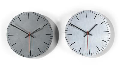 Two wall clocks, designed by Roland Rainer c. 1975, - Design