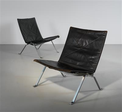Two early lounge chairs model PK22, designed by Poul Kjærholm - Design