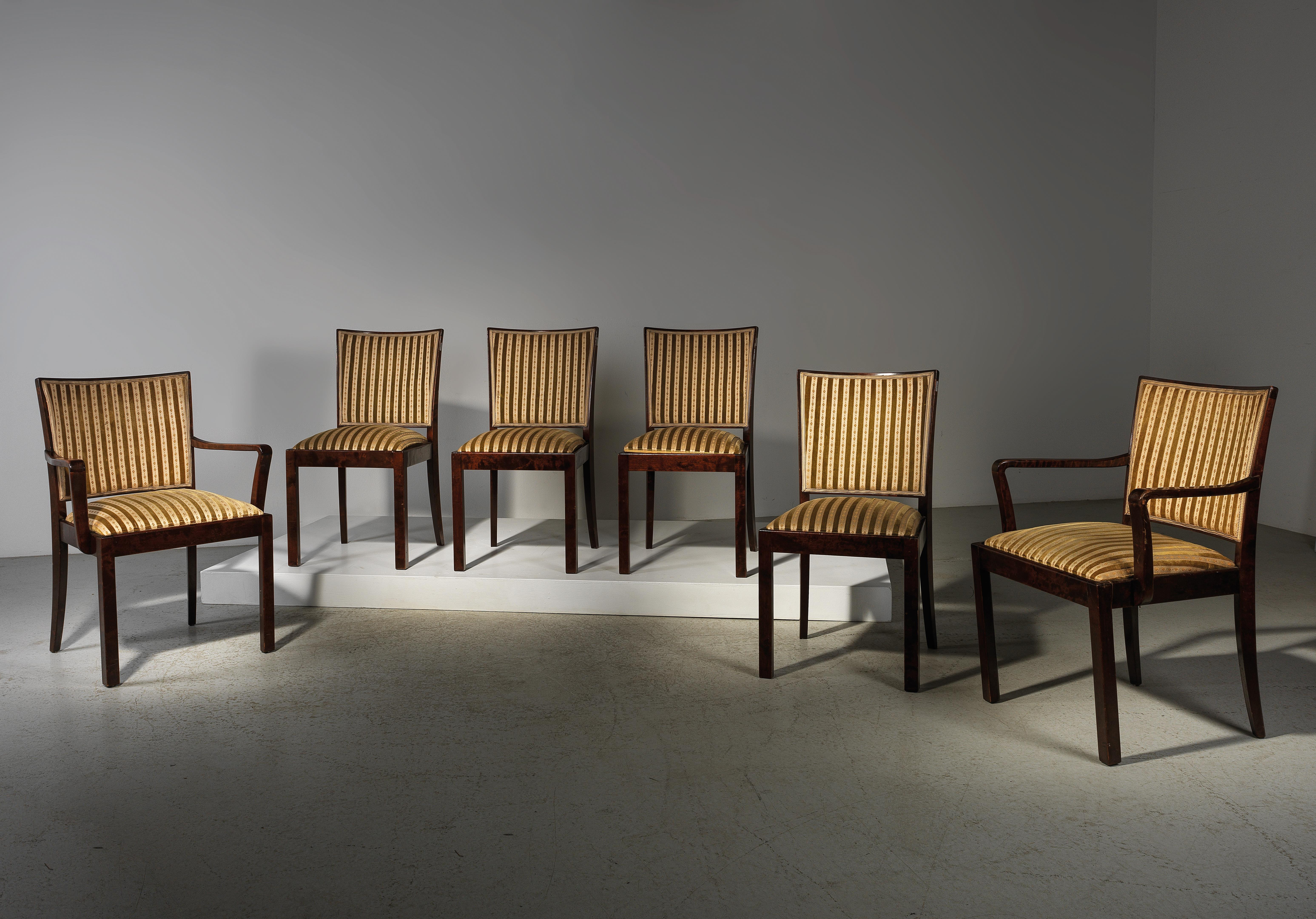 A Set Of Four Upholstered Chairs And Two Armchairs Mod 350 11 From Dining Room 357 Designed By Bruno Paul Design 2019 10 02 Estimate Eur 1 500 To Eur 2 000 Dorotheum